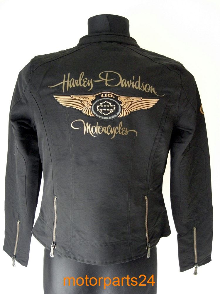 harley davidson 110th 110th anniversary ladies jacket. Black Bedroom Furniture Sets. Home Design Ideas