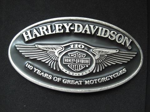 harley davidson 110th anniversary g rtelschnalle buckle