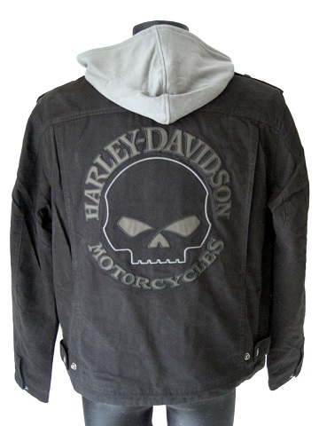 harley davidson skull 3in1 hoodie jacke 98415 08vm l ebay. Black Bedroom Furniture Sets. Home Design Ideas