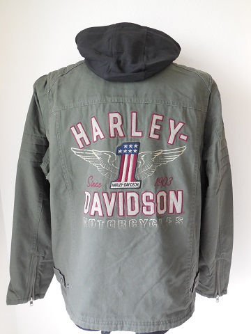 harley davidson long way 3 in 1 jacke mit hoodie kapuze. Black Bedroom Furniture Sets. Home Design Ideas