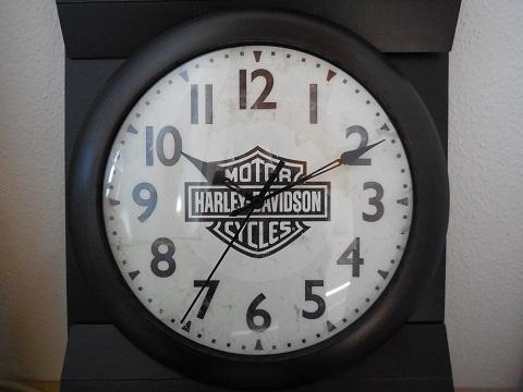 harley davidson bar shield logo silent b s uhr wanduhr. Black Bedroom Furniture Sets. Home Design Ideas