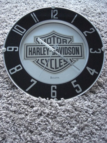 harley davidson bar shield b s uhr wanduhr mirrored wall. Black Bedroom Furniture Sets. Home Design Ideas