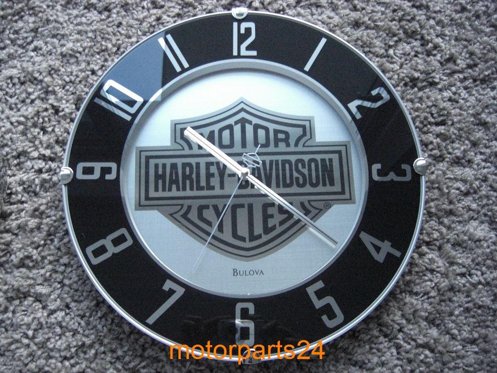 harley davidson bar shield wanduhr uhr mirrored 99365. Black Bedroom Furniture Sets. Home Design Ideas